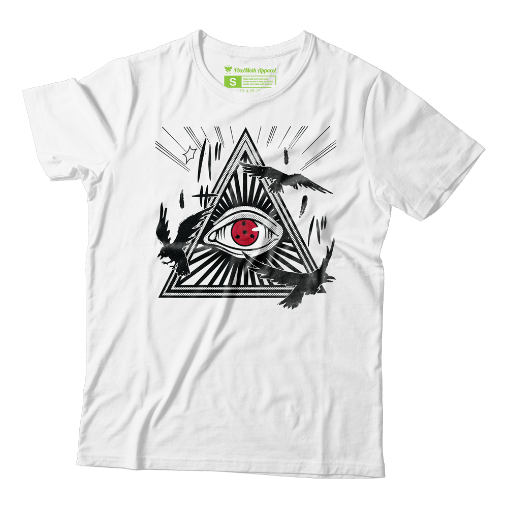 All-Seeing Sharingan white Naruto shirt