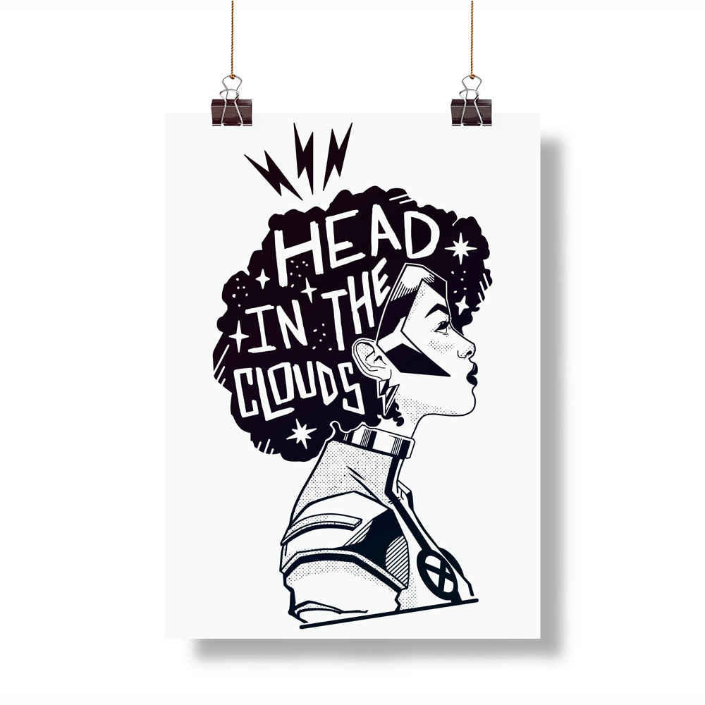 Head in the Clouds hanging print